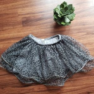 Grey Leopard Print Tutu Skirt 4T 💥5/$20💥